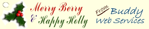 Merry Berry and Happy Holly from Buddy Web Services